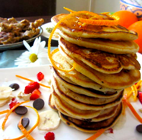 Vegan Orange Vanilla Pancakes