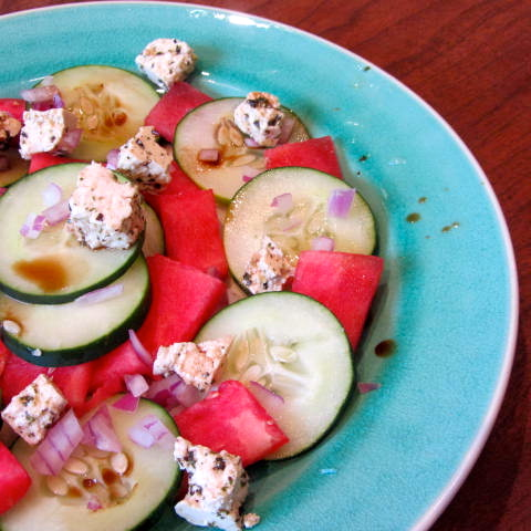 como water watermelon salad