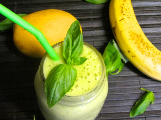 Tropical Basil Smoothie