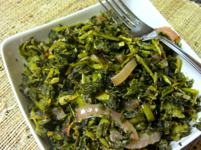 Beer Roasted Turnip Greens Como Water