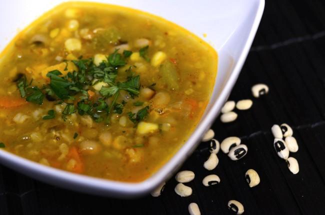 Black Eyed Peas Sweet Potato Soup